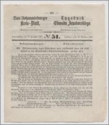 Johannisburger Kreisblatt = Tygodnik Obwodu Jansborskiego 1863 no. 51
