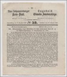 Johannisburger Kreisblatt = Tygodnik Obwodu Jansborskiego 1863 no. 52