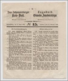 Johannisburger Kreisblatt = Tygodnik Obwodu Jansborskiego 1863 no. 15