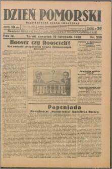 Dzień Pomorski 1932.11.10, R. 4 nr 259