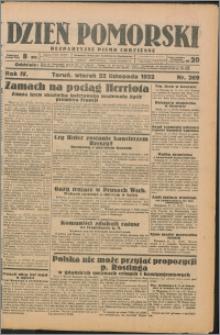Dzień Pomorski 1932.11.22, R. 4 nr 269