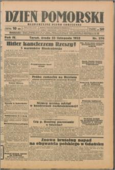 Dzień Pomorski 1932.11.23, R. 4 nr 270