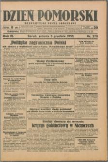 Dzień Pomorski 1932.12.03, R. 4 nr 279