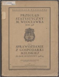 Przegląd Statystyczny M. Włocławka Rok 1928 oraz Sprawozdanie z Gospodarki Miejskiej za Rok Budżetowy 1928/1929