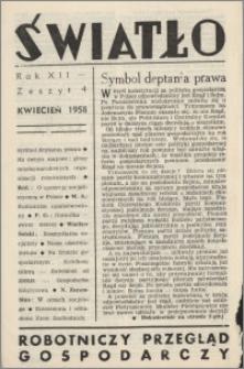 Światło 1958, R. 12 z. 4