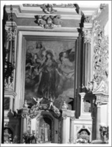 """Pępowo [Kościół Parafialny pw. św. Jadwigi, obraz Bartłomieja Strobla """"Wniebowzięcie i Koronacja Marii z apostołami u grobu"""" w ołtarzu głównym]"""