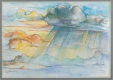 """Z cyklu """"Duże Kujawy"""" : Chmury z nadciągającą ulewą"""
