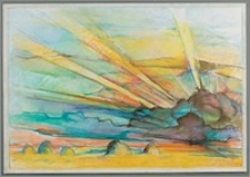 """Z cyklu """"Duże Kujawy"""" : Chmury - sianokosy promienne"""