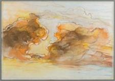 """Z cyklu """"Duże Kujawy"""" : Chmury III - wichura w sepiach"""
