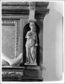 Łowicz. Bazylika katedralna Wniebowzięcia Najświętszej Maryi Panny i Św. Mikołaja. Nagrobek Piotra Tarnowskiego - fragment