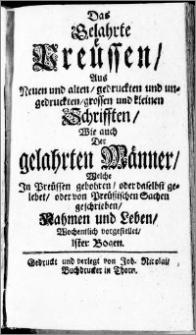Das Gelahrte Preussen, cz. 1, z. 1-24