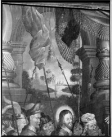 Dobre Miasto. Kościół parafialny pw. Najświętszego Zbawiciela i Wszystkich Świętych. Wnętrze-obraz ze stalli