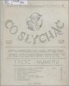 Co Słychać : wydawnictwo zawierające tłumaczenia aktualnych artykułów ... 1941, R. 2 nr 2