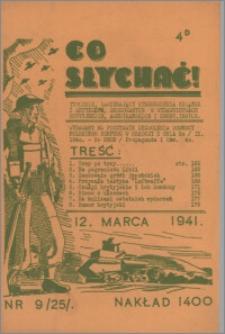 Co Słychać : tygodnik zawierający streszczenia książek i artykułów ... 1941, R. 2 nr 9