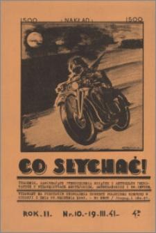 Co Słychać : tygodnik zawierający streszczenia książek i artykułów ... 1941, R. 2 nr 10