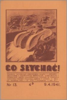 Co Słychać : tygodnik zawierający streszczenia książek i artykułów ... 1941, R. 2 nr 13