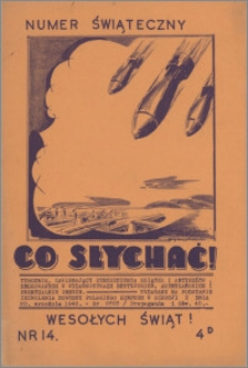 Co Słychać : tygodnik zawierający streszczenia książek i artykułów ... 1941, R. 2 nr 14