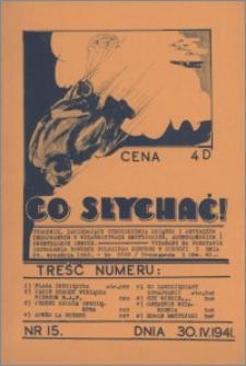 Co Słychać : tygodnik zawierający streszczenia książek i artykułów ... 1941, R. 2 nr 15