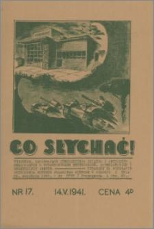 Co Słychać : tygodnik zawierający streszczenia książek i artykułów ... 1941, R. 2 nr 17