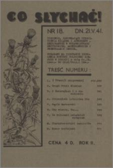 Co Słychać : tygodnik zawierający streszczenia książek i artykułów ... 1941, R. 2 nr 18
