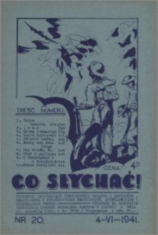 Co Słychać : tygodnik zawierający streszczenia książek i artykułów ... 1941, R. 2 nr 20