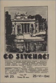 Co Słychać : tygodnik zawierający streszczenia książek i artykułów ... 1941, R. 2 nr 23
