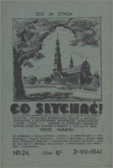 Co Słychać : tygodnik zawierający streszczenia książek i artykułów ... 1941, R. 2 nr 24