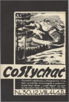 Co Słychać : tygodnik zawierający streszczenia książek i artykułów ... 1941, R. 2 nr 30