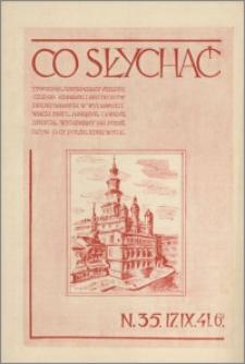 Co Słychać : tygodnik zawierający streszczenia książek i artykułów ... 1941, R. 2 nr 35