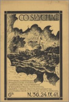 Co Słychać : tygodnik zawierający streszczenia książek i artykułów ... 1941, R. 2 nr 36