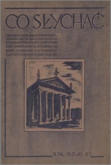 Co Słychać : tygodnik zawierający streszczenia książek i artykułów ... 1941, R. 2 nr 38