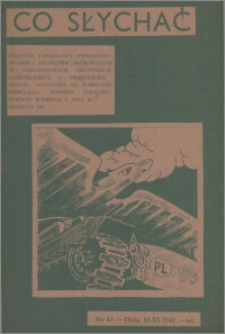 Co Słychać : tygodnik zawierający streszczenia książek i artykułów ... 1941, R. 2 nr 43