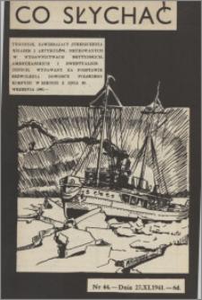 Co Słychać : tygodnik zawierający streszczenia książek i artykułów ... 1941, R. 2 nr 44