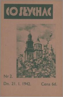 Co Słychać : tygodnik zawierający streszczenia książek i artykułów ... 1942, R. 3 nr 2