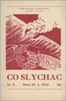 Co Słychać : tygodnik zawierający streszczenia książek i artykułów ... 1942, R. 3 nr 3
