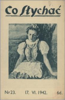 Co Słychać : tygodnik zawierający streszczenia książek i artykułów ... 1942, R. 3 nr 23
