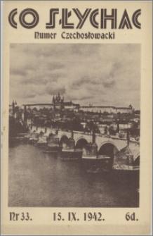 Co Słychać : tygodnik zawierający streszczenia książek i artykułów ... 1942, R. 3 nr 33