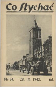 Co Słychać : tygodnik zawierający streszczenia książek i artykułów ... 1942, R. 3 nr 34