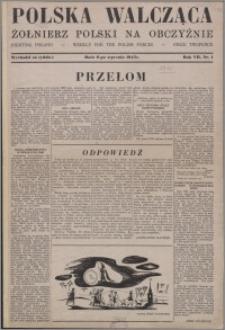 Polska Walcząca - Żołnierz Polski na Obczyźnie 1945.01.06, R. 7 nr 1