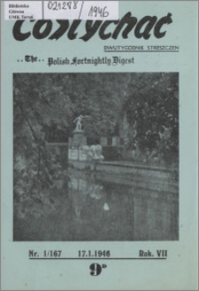Co Słychać : dwutygodnik streszczeń 1946, R. 7 nr 1 (167)