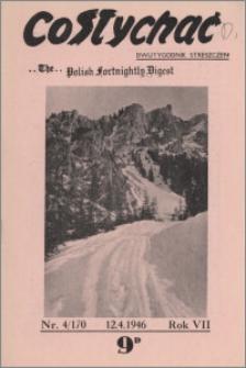 Co Słychać : dwutygodnik streszczeń 1946, R. 7 nr 4 (170)