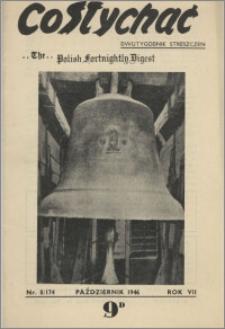 Co Słychać : dwutygodnik streszczeń 1946, R. 7 nr 8 (174)