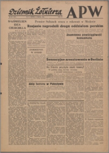 Dziennik Żołnierza APW Wydanie polowe B 1946.03.08, R. 4 nr 58