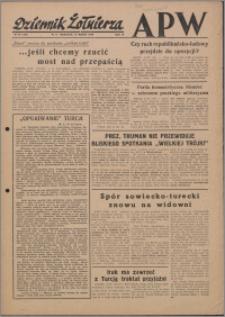Dziennik Żołnierza APW Wydanie polowe B 1946.03.10, R. 4 nr 60