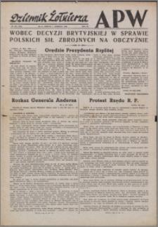Dziennik Żołnierza APW Wydanie polowe B 1946.06.01, R. 4 nr 130