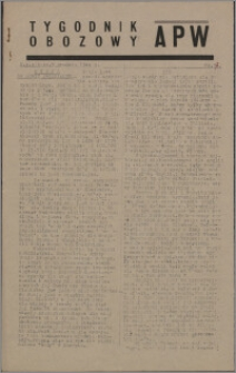 Tygodnik Obozowy APW 1944 nr 37