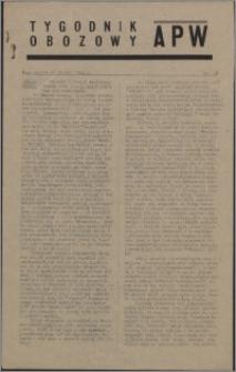 Tygodnik Obozowy APW 1944 nr 38