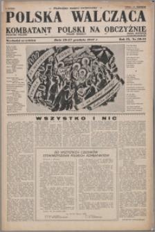 Polska Walcząca - Kombatant Polski na Obczyźnie 1947.12.20-1947.12.27, R. 9 nr 50-51