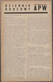 Dziennik Obozowy APW 1944.04.25 nr 70