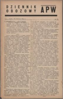 Dziennik Obozowy APW 1944.04.28 nr 73